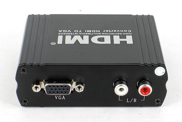 Spacetronik Konwerter HDMI do VGA z audio HDCVGA02